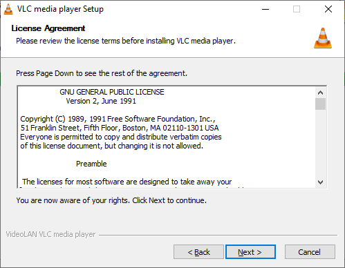 Lisensya sa VLC