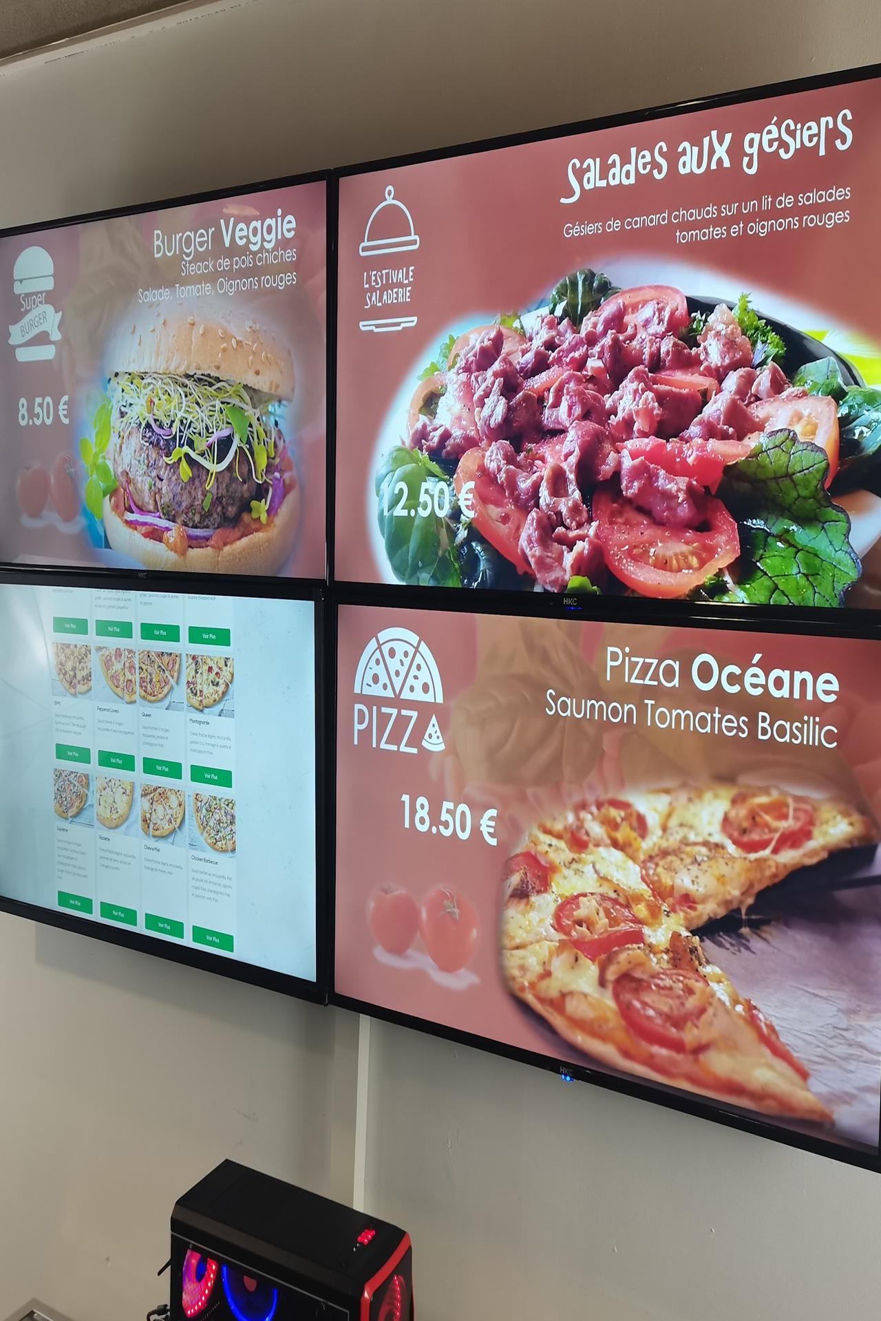 Sayon nga Multi Display board sa menu