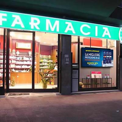 Drugstore window screen