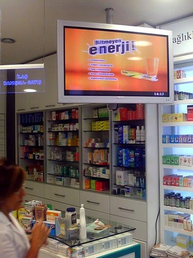 Indoor digital signage screen