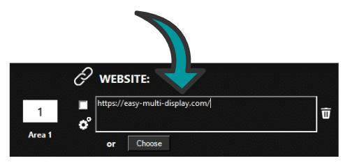 Website in Easy Multi Display